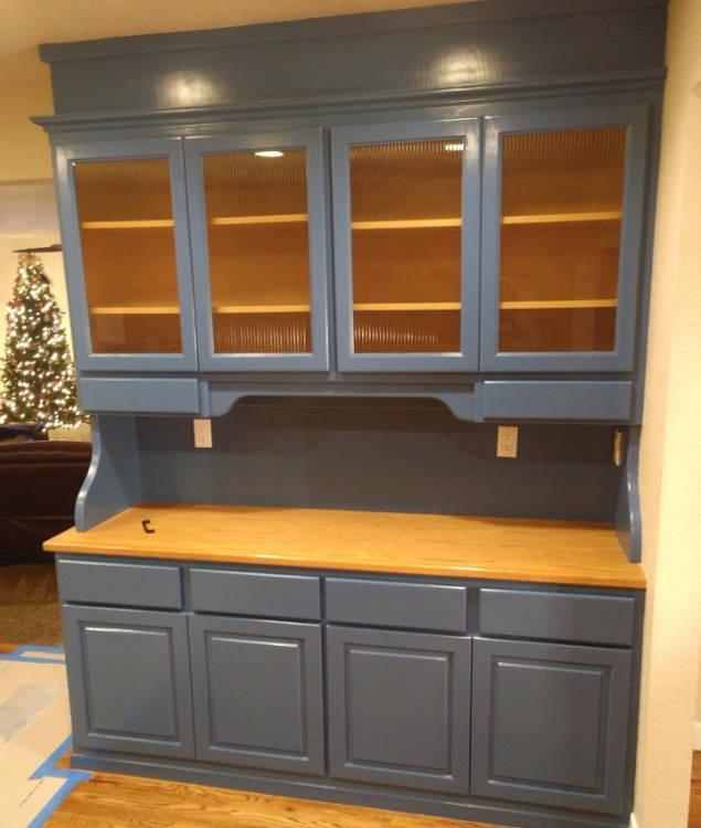 blue cabinets - McClinton Painting