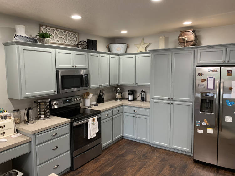 Cabinets painted by McClinton's professional painters